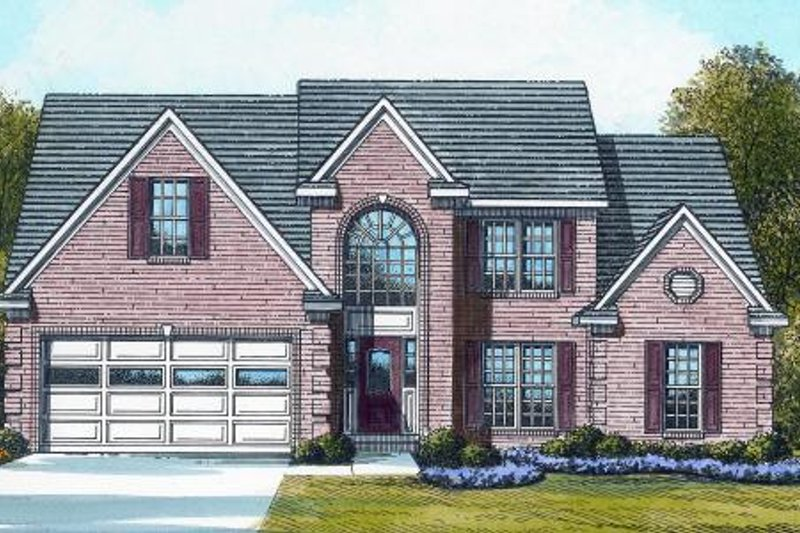 Traditional Style House Plan - 5 Beds 3 Baths 2661 Sq/Ft Plan #424-144 Exterior - Front Elevation