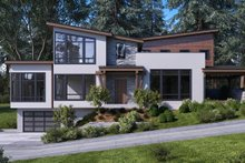 Architectural House Design - Modern Exterior - Front Elevation Plan #1066-43