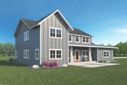 Farmhouse Style House Plan - 3 Beds 2.5 Baths 2889 Sq/Ft Plan #1068-4 Exterior - Rear Elevation