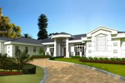 Mediterranean Style House Plan - 5 Beds 4.5 Baths 5315 Sq/Ft Plan #420-133 Exterior - Front Elevation