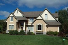 Dream House Plan - Traditional Exterior - Rear Elevation Plan #56-598