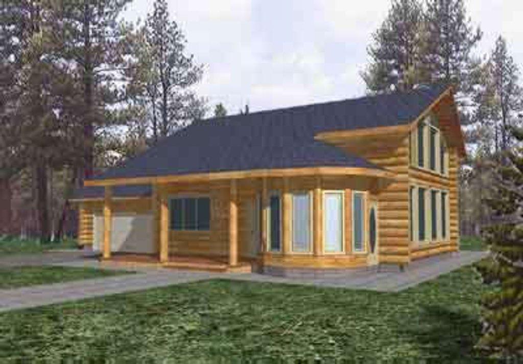 Log Style House Plan 3 Beds 3 Baths 2813 Sq Ft Plan 117 109 Builderhouseplans Com