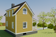 Cottage Style House Plan - 1 Beds 2 Baths 686 Sq/Ft Plan #542-19 Exterior - Other Elevation