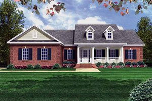 Southern Exterior - Front Elevation Plan #21-146