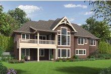 Craftsman Exterior - Rear Elevation Plan #48-652