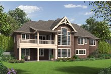 Dream House Plan - Craftsman Exterior - Rear Elevation Plan #48-652