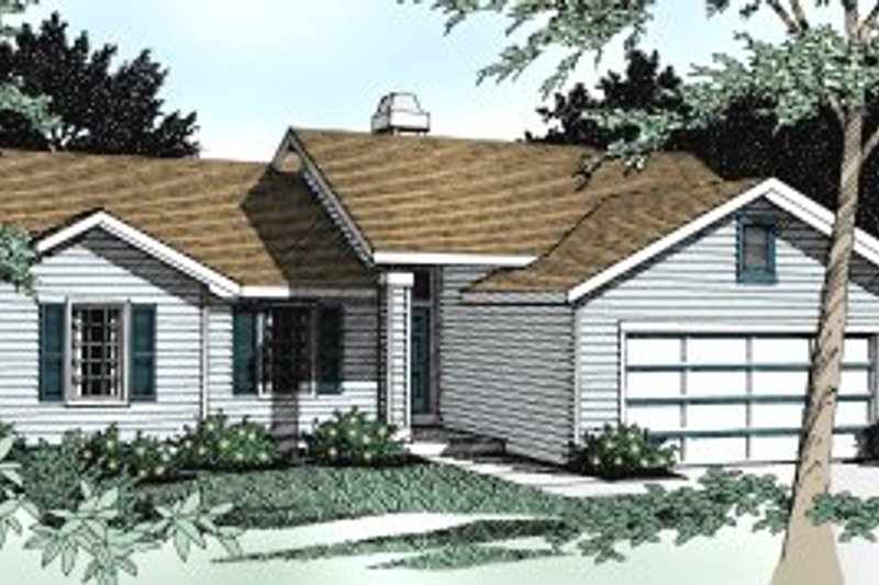 Traditional Exterior - Front Elevation Plan #91-108