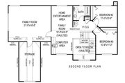 Farmhouse Style House Plan - 4 Beds 2.5 Baths 2305 Sq/Ft Plan #11-227 Floor Plan - Upper Floor Plan