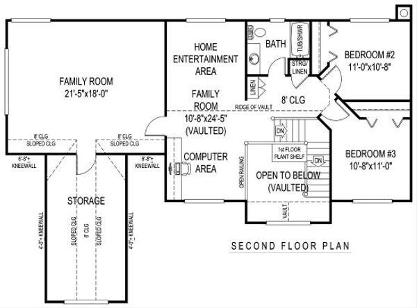 Home Plan - Farmhouse Floor Plan - Upper Floor Plan #11-227