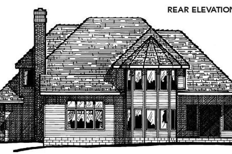 Traditional Exterior - Rear Elevation Plan #20-1078 - Houseplans.com