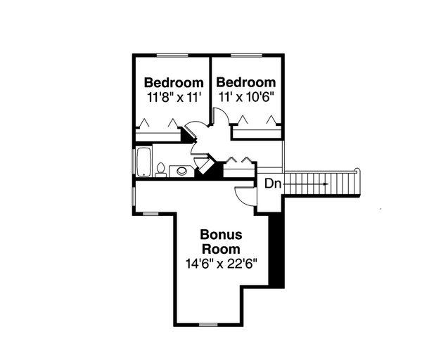 Craftsman Floor Plan - Upper Floor Plan Plan #124-949