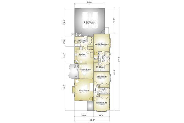 Cottage Floor Plan - Main Floor Plan Plan #910-2