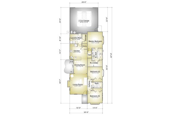 Cottage Floor Plan - Main Floor Plan #910-2