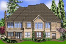Dream House Plan - Traditional Exterior - Rear Elevation Plan #48-297