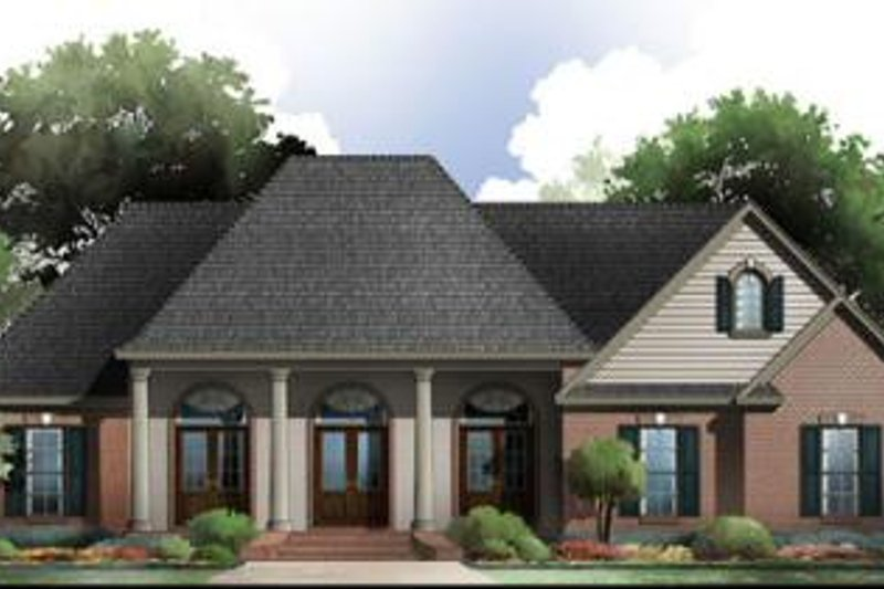 Southern Exterior - Front Elevation Plan #21-271