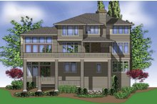Home Plan - Contemporary Exterior - Rear Elevation Plan #48-255