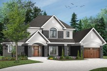 Home Plan - Traditional Exterior - Front Elevation Plan #23-831