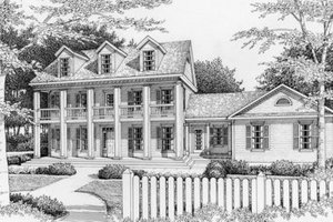 Southern Exterior - Front Elevation Plan #112-133