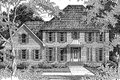 Colonial Style House Plan - 4 Beds 2.5 Baths 2613 Sq/Ft Plan #41-162 Exterior - Front Elevation