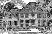 Colonial Exterior - Front Elevation Plan #41-162