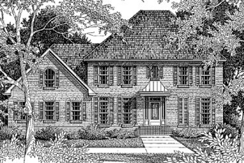 House Plan Design - Colonial Exterior - Front Elevation Plan #41-162