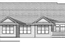 Dream House Plan - Traditional Exterior - Rear Elevation Plan #70-822