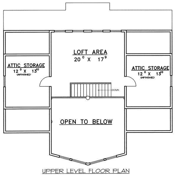 Bungalow Floor Plan - Upper Floor Plan Plan #117-541