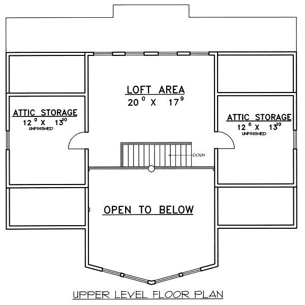 Bungalow Floor Plan - Upper Floor Plan #117-541