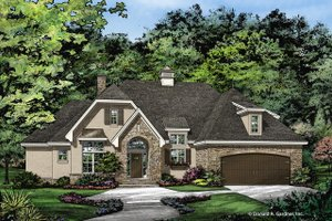 European Exterior - Front Elevation Plan #929-1028