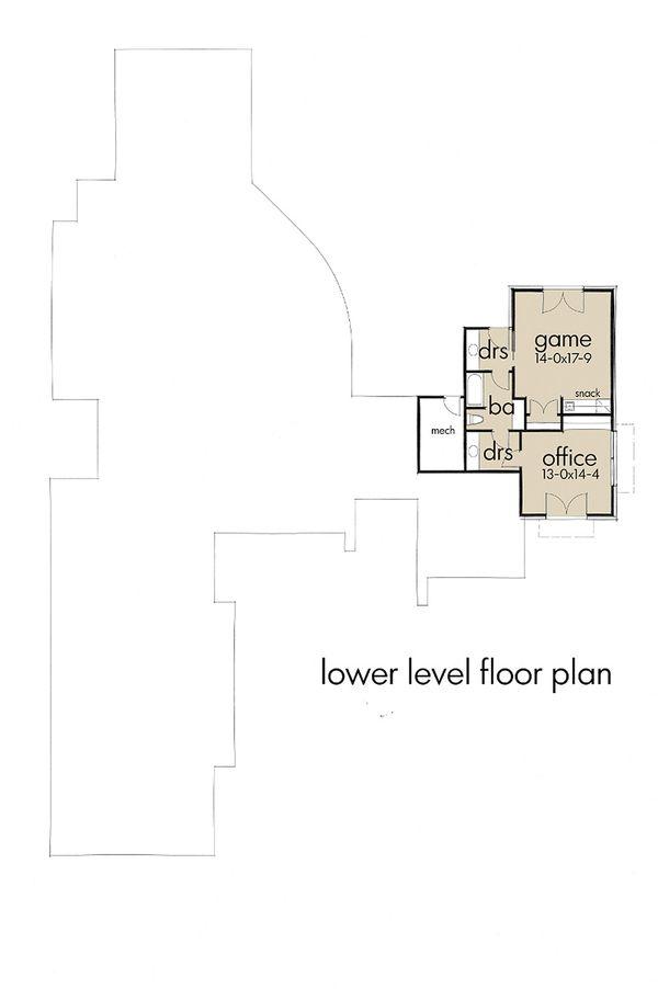 Contemporary Floor Plan - Lower Floor Plan Plan #120-188