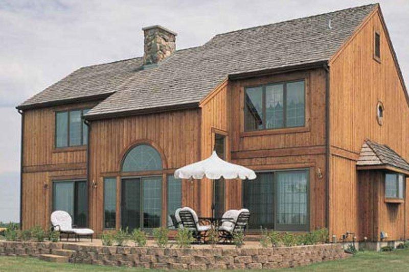 Craftsman Exterior - Rear Elevation Plan #72-125 - Houseplans.com