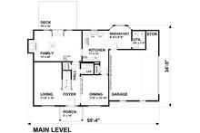 Traditional Floor Plan - Main Floor Plan Plan #30-349