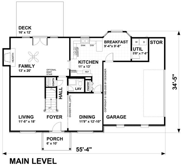 Dream House Plan - Traditional Floor Plan - Main Floor Plan #30-349