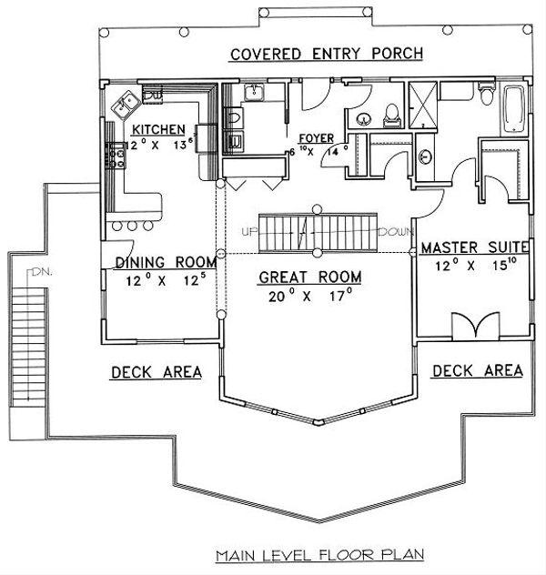 Bungalow Floor Plan - Main Floor Plan Plan #117-542