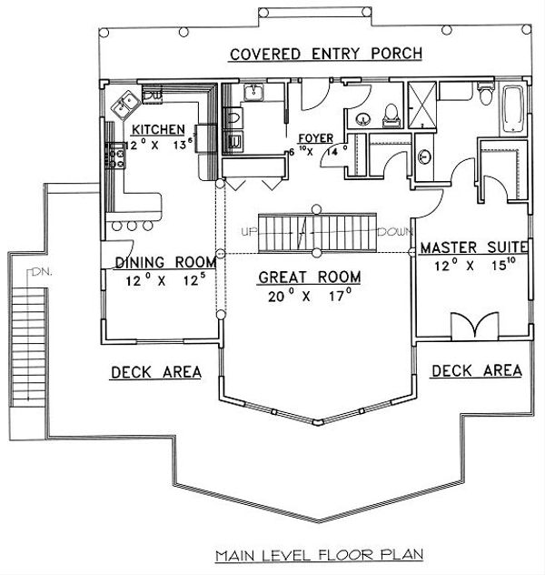 Bungalow Floor Plan - Main Floor Plan #117-542