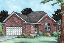 Southern Exterior - Front Elevation Plan #20-1516