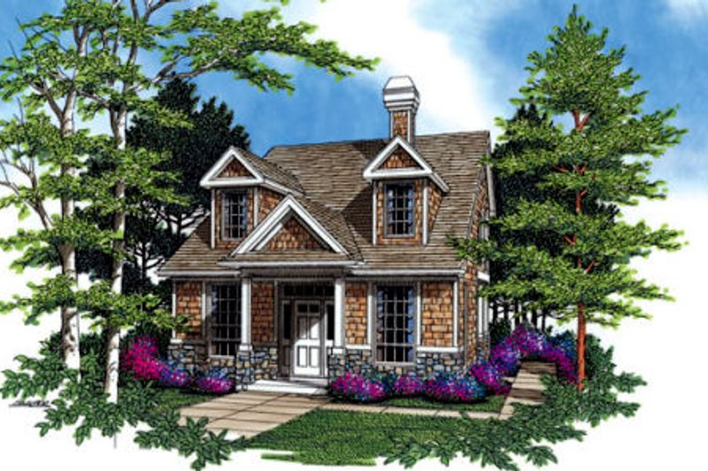 Traditional Exterior - Front Elevation Plan #48-311