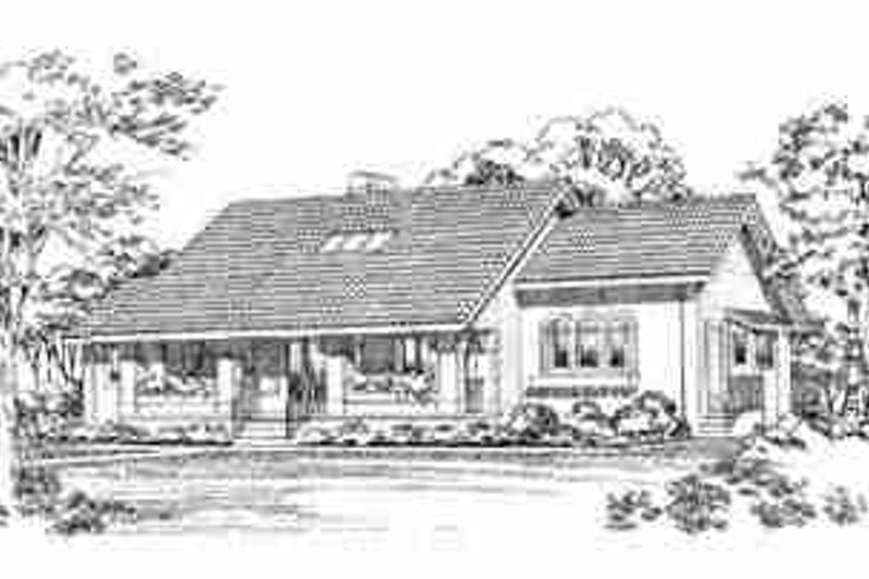 Traditional Exterior - Front Elevation Plan #72-314 - Houseplans.com