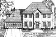 Colonial Style House Plan - 4 Beds 3 Baths 2104 Sq/Ft Plan #30-206 Exterior - Other Elevation