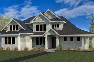 Craftsman Exterior - Front Elevation Plan #920-6