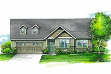 House Plan Design - Craftsman Exterior - Front Elevation Plan #53-595
