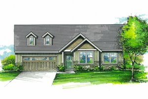Craftsman Exterior - Front Elevation Plan #53-595