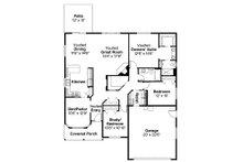 Traditional Floor Plan - Main Floor Plan Plan #124-738