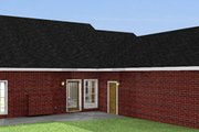 Ranch Style House Plan - 4 Beds 3 Baths 1856 Sq/Ft Plan #44-117 Exterior - Rear Elevation