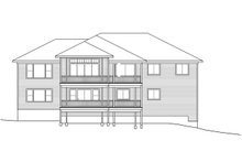 Home Plan - Traditional Exterior - Rear Elevation Plan #124-1118