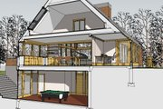 Contemporary Style House Plan - 4 Beds 2.5 Baths 3652 Sq/Ft Plan #481-1 Exterior - Other Elevation