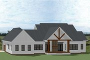 Farmhouse Style House Plan - 4 Beds 4.5 Baths 3353 Sq/Ft Plan #898-50 Exterior - Rear Elevation