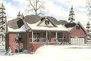 Country Style House Plan - 5 Beds 3.5 Baths 2906 Sq/Ft Plan #17-645 Exterior - Other Elevation