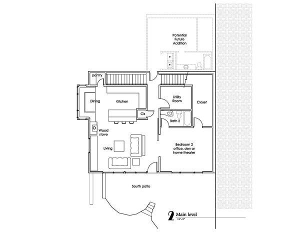 Craftsman Floor Plan - Main Floor Plan Plan #902-1