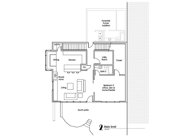 Craftsman Floor Plan - Main Floor Plan #902-1